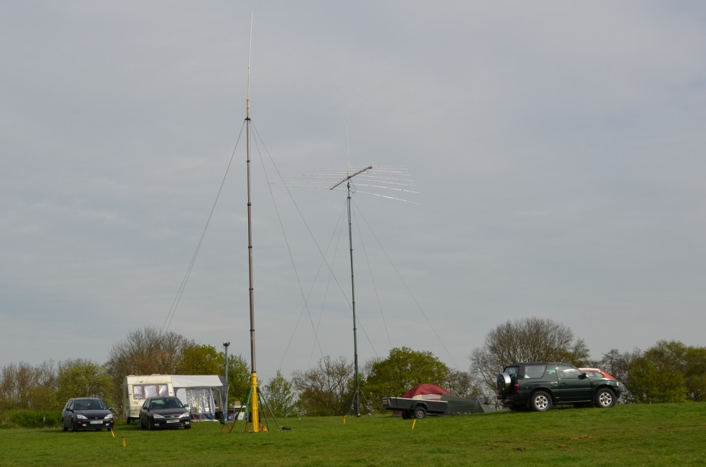 The field weekend setup near the bunker's original tower site
