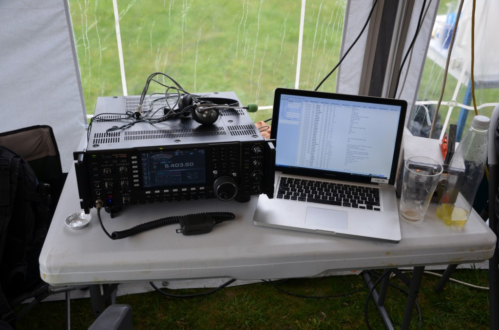 Icom IC7700 comprises the HF station