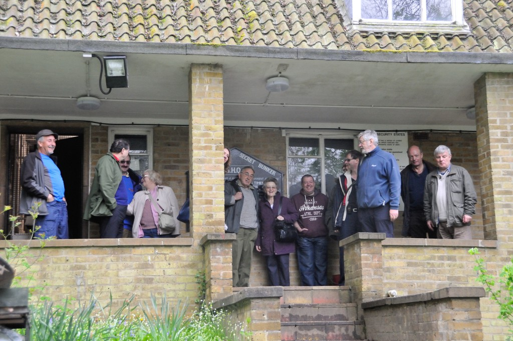 Cray Valley members at the Bunker Entrance