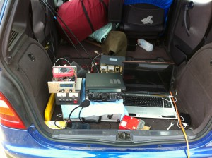 The ground side of Spencer, M0STO's homebrew tracking array