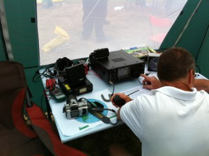 Kevin operates HF from the outside station