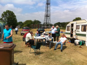 Some general chit-chat as members enjoy lunch in the sun